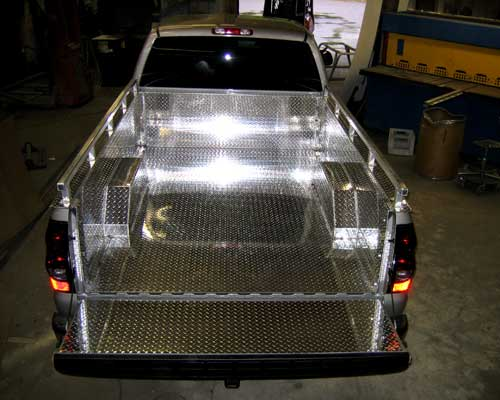 Custom Aluminum truck bed liner.
