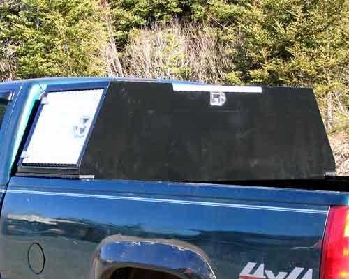 Custom made tool box for pick up truck.