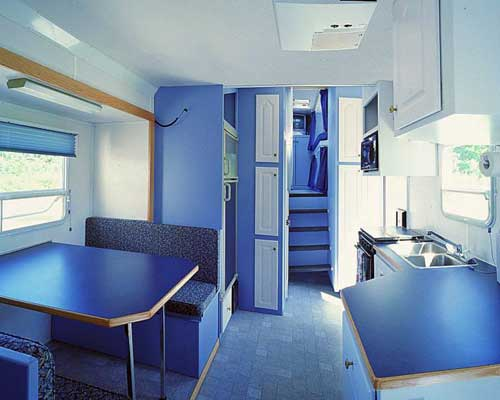 Custom built trailer interiors.