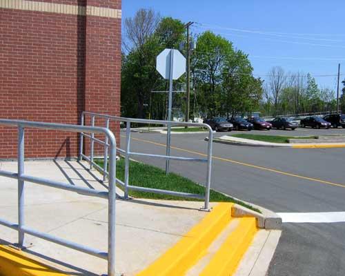 Galvanized handrails